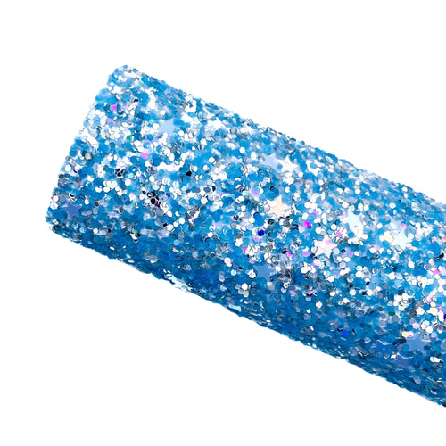STARRY SKIES - Chunky glitter fabric