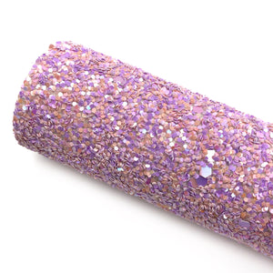 CANDY SWIRL SPARKLE- Chunky glitter fabric