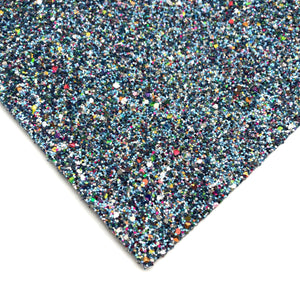 BLUE JEWEL - Chunky glitter fabric