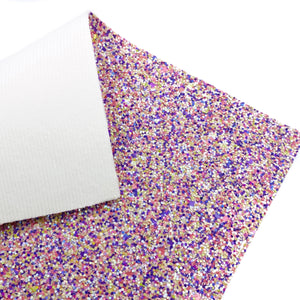 FAIRY FLOSS - Chunky glitter fabric