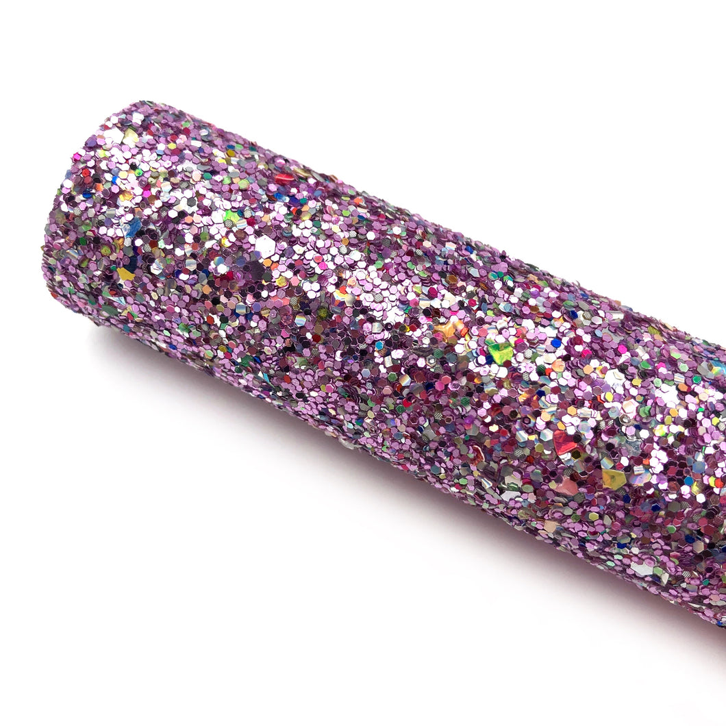 PINK JEWEL - Chunky glitter fabric