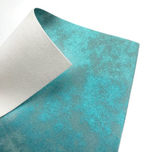TURQUOISE DISTRESSED METALLIC - Faux Leather