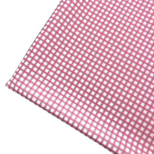 PINK GINGHAM - Custom Printed Bullet Liverpool Fabric