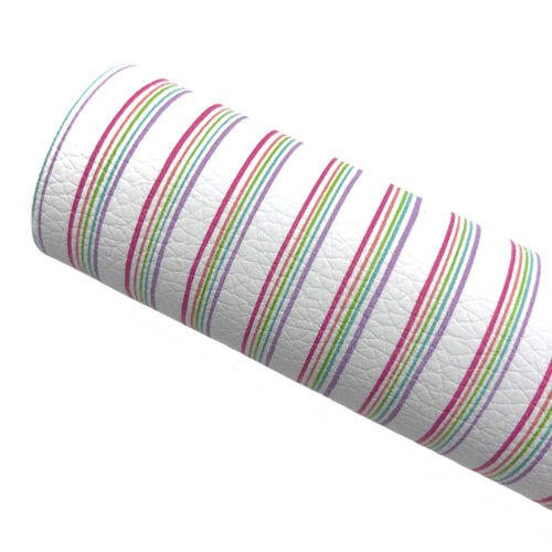 RAINBOW PETITE PINSTRIPES - Custom Printed Leather