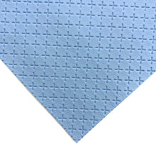 BLUE - Embossed Cross Leather