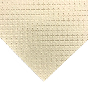 IVORY - Embossed Cross Leather