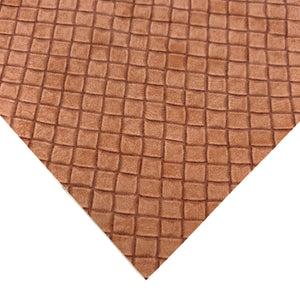 CHOCOLATE WAFFLE - Textured Leather