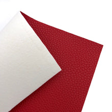 RED - Litchi Leather