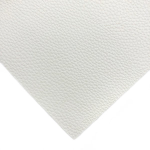 WHITE - Litchi Leather