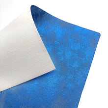 BLUE DISTRESSED METALLIC - Faux Leather