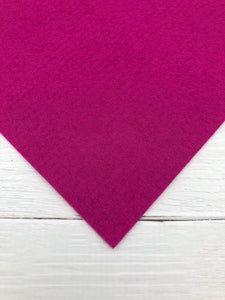 "MAGENTA - 12""x18"" Wool Blend Felt (Large Sheet)"