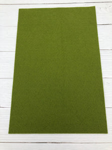 "MOSS - 12""x18"" Wool Blend Felt (Large Sheet)"