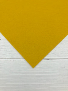 "MUSTARD - 12""x18"" Wool Blend Felt (Large Sheet)"