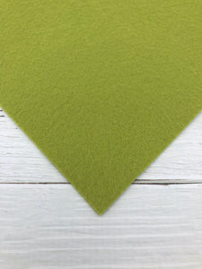 "OLIVE - 12""x18"" Wool Blend Felt (Large Sheet)"