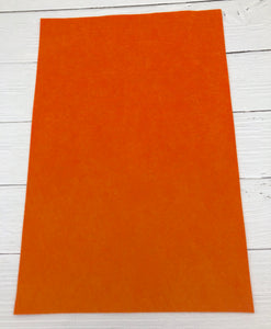 "ORANGE - 12""x18"" Wool Blend Felt (Large Sheet)"
