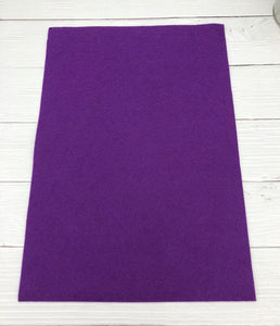 "PURPLE PASSION - 12""x18"" Wool Blend Felt (Large Sheet)"