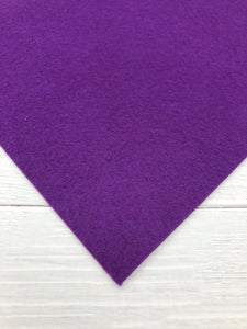 "PURPLE PASSION - 8""x12"" Wool Blend Felt"