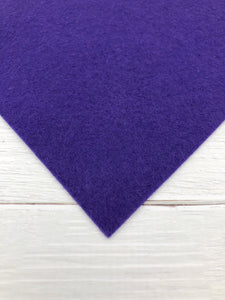 "PURPLE - 8""x12"" Wool Blend Felt"