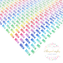 RAINBOW -  Personalised Name Canvas