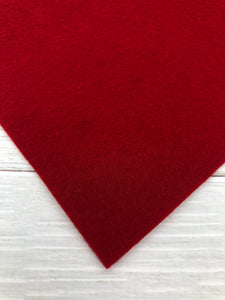 #07 RED - 100% Merino Wool Felt