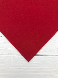 "RED - 8""x12"" Wool Blend Felt"