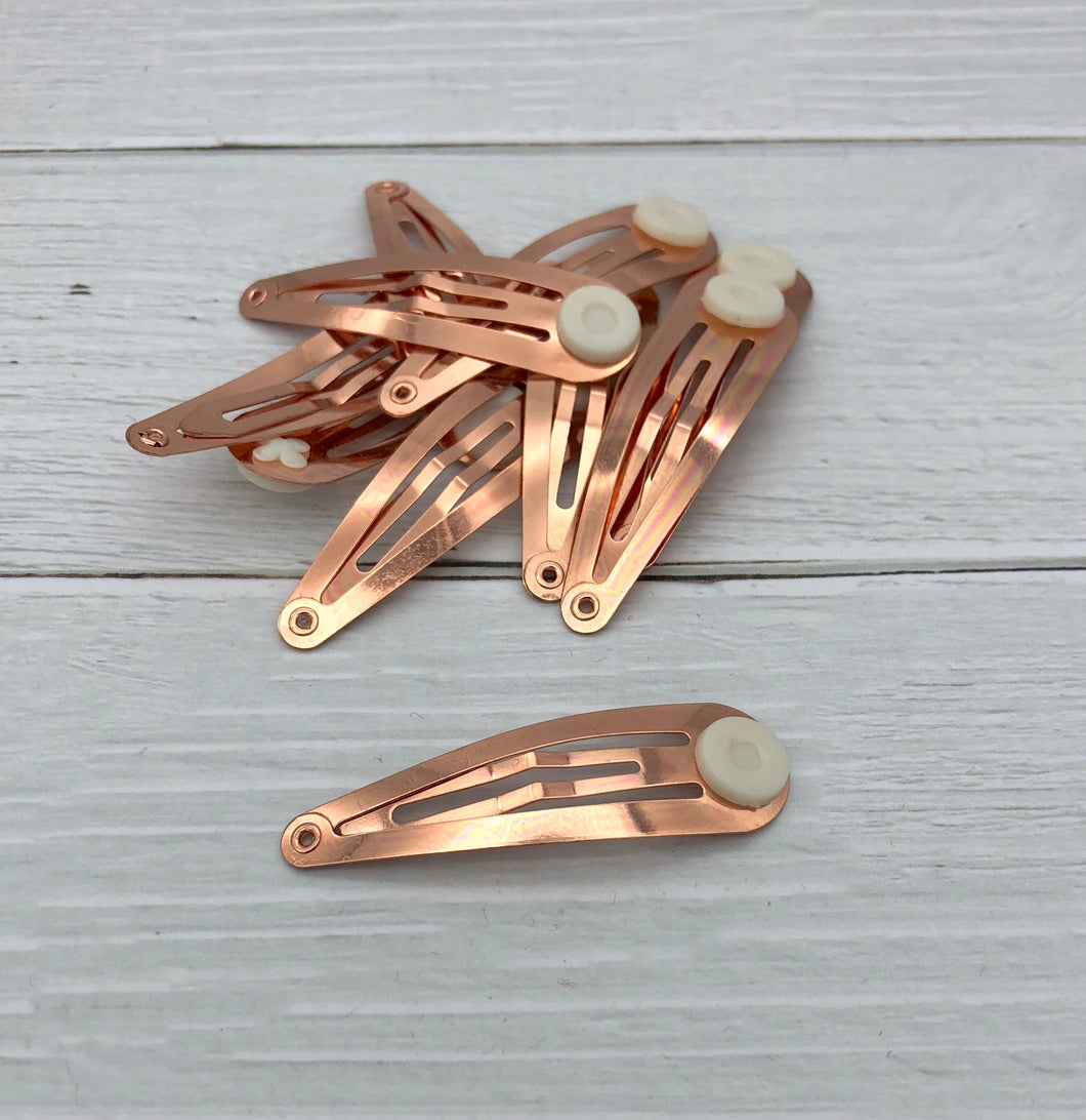 ROSE GOLD - 50mm Snap Clips (with glue pad)