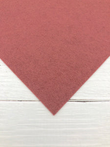"ROSEWOOD - 12""x18"" Wool Blend Felt (Large Sheet)"