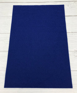 "ROYAL BLUE - 8""x12"" Wool Blend Felt"