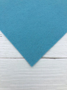 "TEAL BLUE - 12""x18"" Wool Blend Felt (Large Sheet)"