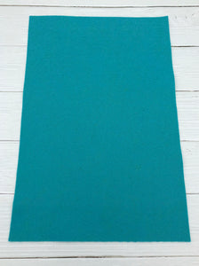 "TURQUOISE - 12""x18"" Wool Blend Felt (Large Sheet)"