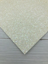 WHITE SPARKLE - Chunky glitter fabric