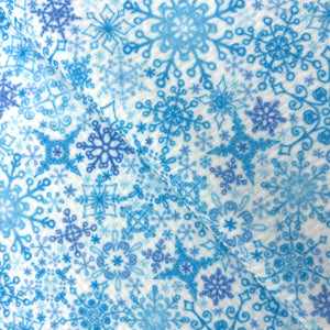 WHITE FROST - Custom Printed Bullet Liverpool Fabric
