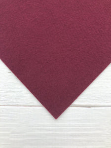 "WINE - 12""x18"" Wool Blend Felt (Large Sheet)"