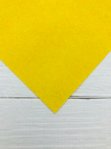 "YELLOW - 12""x18"" Wool Blend Felt (Large Sheet)"