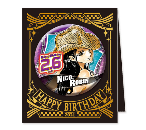 ONE PIECE Birthday series Badges / tin badges Nico Robin (JUMP SHOP)