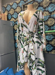 Tie the Waist O-ring Long Cover Ups