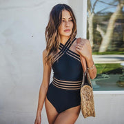 Sexy One Piece High Neck Women Swimsuits