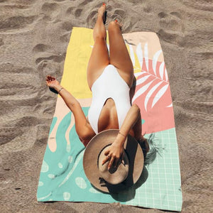 Exclusive tropical-land Beach towel