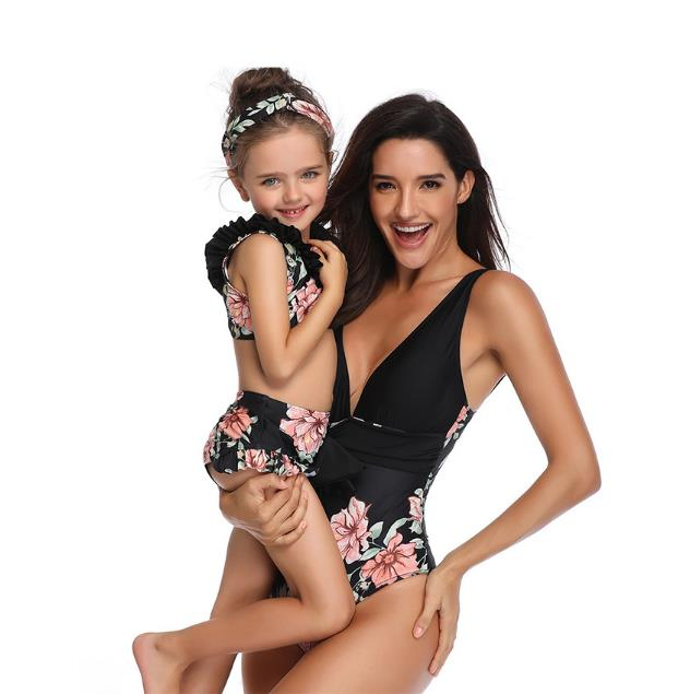 Mother and Daughter Ruffle One Piece