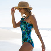 2021 Sexy One Shoulder Ruffle One Piece Swimsuit (Shipping Immediately )