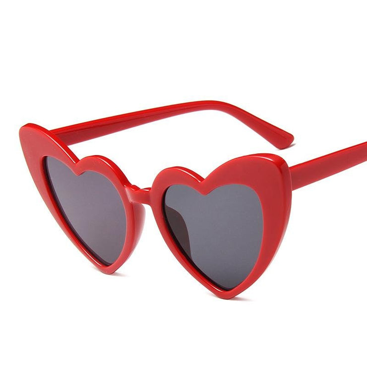 Peach heart love sunglasses