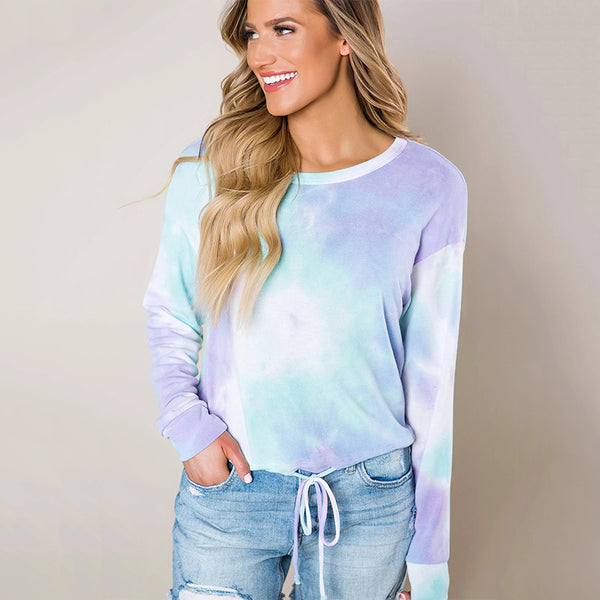 Long sleeve tie dye color shirt