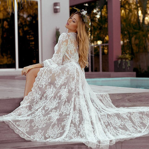 Long Lace Beach Cover up