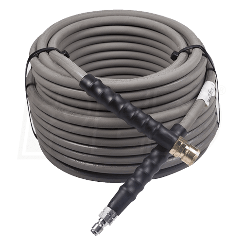 "50-Foot (3/8"") 4000 PSI Grey Non-Marking High Pressure Hose (Hot/Cold Water)"