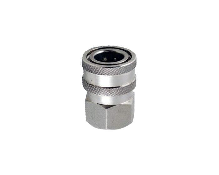 "Quick Coupler Socket - 1/4"" FPT - Stainless Steel - 6000 PSI"