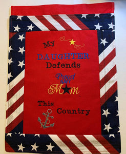 002: My Son/Daughter Defends This Country Garden Flag