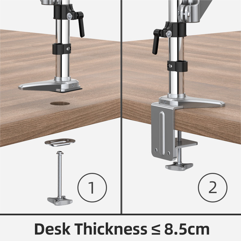 Desk Monitor Mount Adjustable Gas Spring Computer Arm for 15''-32'' Screens