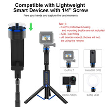 Load image into Gallery viewer, 4 in 1 Aluminum Selfie Stick Tripod With Bluetooth Remote Screw Mount - ATUMTEK