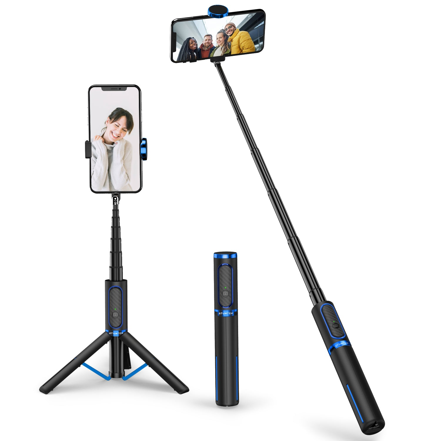 3 in 1 Bluetooth Selfie Stick Tripod with Wireless Remote