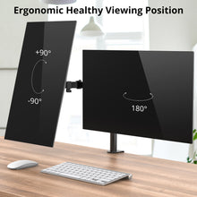 Load image into Gallery viewer, Dual Arm Monitor Stand Desk Mount